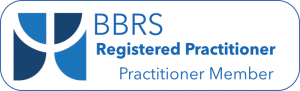 BBRS (British BrainWorking Research Society) seal showing Registered practitioner membership