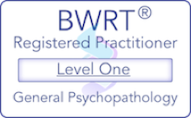 BWRT Level 1 Logo showing registered practitioner for general psychopathology