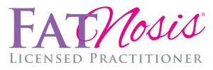 FATNosis Licenced Practitioner logo, showing Vicky can help with this style of weight loss coaching.