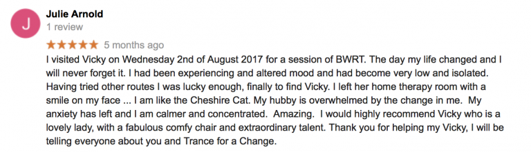 BWRT Testimonial Hinckley Trance for a Change