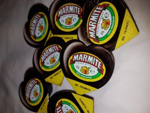 Small pots of Marmite