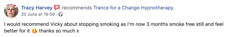 Hypnotherapy review for stopping smoking. Trance for a Change.